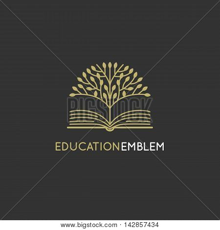 Vector Abstract Logo Design Template - Online Education And Learning Concept