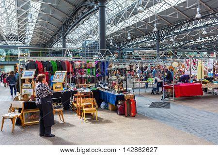 Covered Old Spitalfields Market In London, Uk