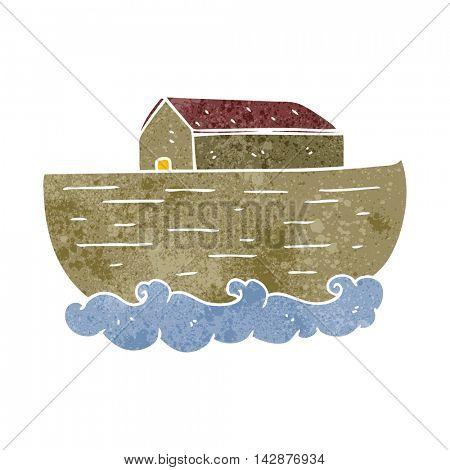 freehand retro cartoon noah's ark