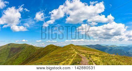 Hillside Panorama In Carpathian Mountains