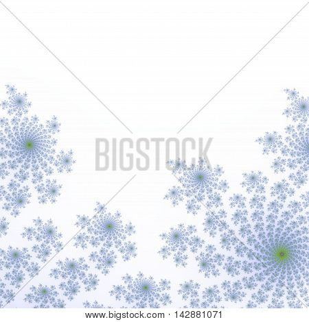White and light blue fractal background image