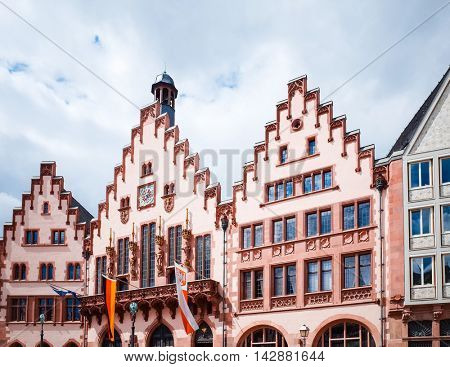 FRANKFURT, HESSE-August 16 : Old Town of Frankfurt am Main.Frankfurt is the largest city in the German state of Hesse and the fifth-largest city in Germany,August 16,2015 in Frankfurt, Germany.