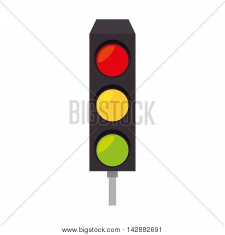 light traffic signal street stoplight transportation regulation vector  illustration isolated