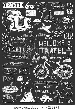 Doodles set - Travel
