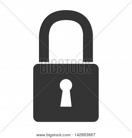lock security safety safeguard object closed vector  isolated and flat illustration