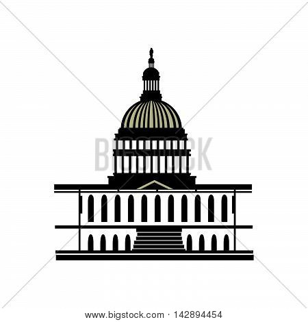 capitol america usa washington district capital dc iconic law government vector  illustration isolated