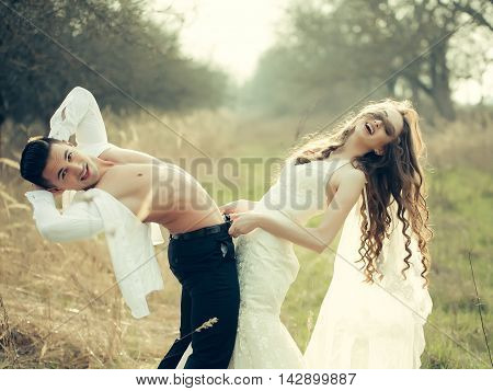 Sexy Wedding Couple