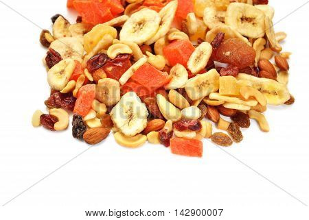 Fruit and Nut Trail Mix with Copy Space