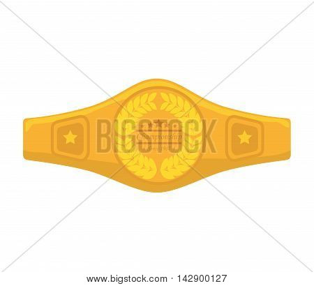 belt boxing sport championship winner fight award vector illustration isolated