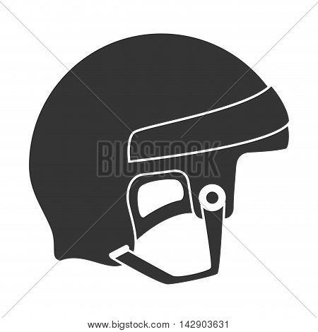 helmet hockey goalkeeper head sport equipment safety vector illustration isolated