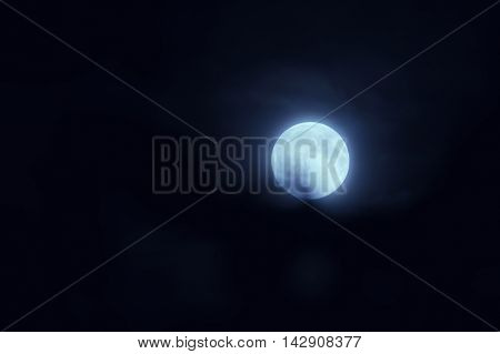 Beautiful Magic Night Sky With Fullmoon
