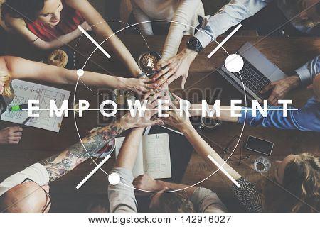 Empowerment New Goals Motivation Affirmation Concept