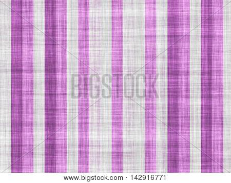 Vertical large purple stripes on a white plain canvas.