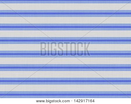 Mattress pattern in the form of a blue stripe on the rough gray material.
