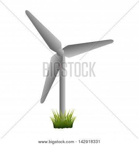 eolic fan wind electricity ecology turbine energy power vector illustration isolated
