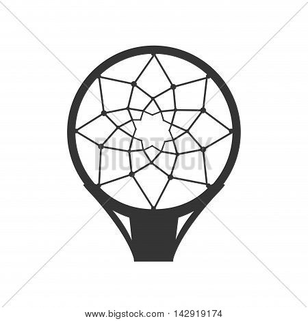 net basketball sport ball basket equipment hoop top vector illustration isolated