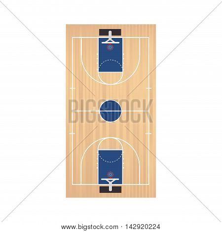 basketball court top field sport game team view planning vector illustration isolated