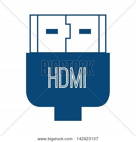 hdmi plug connection transfer technology high definition  multimedia interface vector illustration isolated