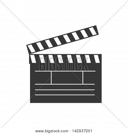 clapboard cinema theater action entertainment video recording vector illustration isolated