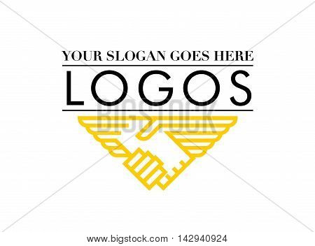 Eagle business logo. It includes a slogan placement and name of the business. vector