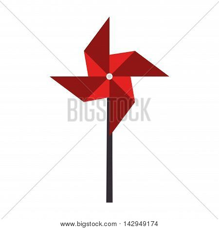 pinwheel toy wind mill child game naturally breeze vector illustration isolated