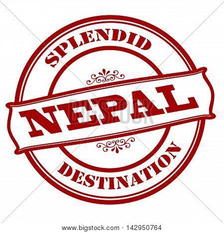 Rubber stamp with text splendid destination Nepal inside vector illustration