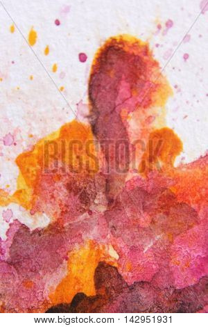 Burgundy and Yellow Watercolour Textures 9
