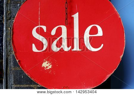 Sale sign in a store in London in United Kindgom UK