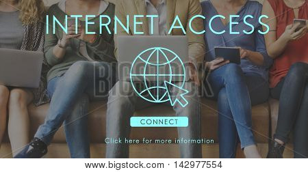 Internet Access URL Browsing Connection Concept poster
