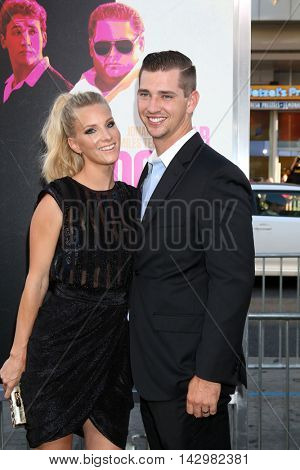 LOS ANGELES - AUG 15:  Heather Morris, Taylor Hubbell at the War Dogs