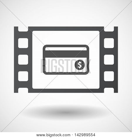 Isolated Celluloid Film Frame Icon With  A Credit Card
