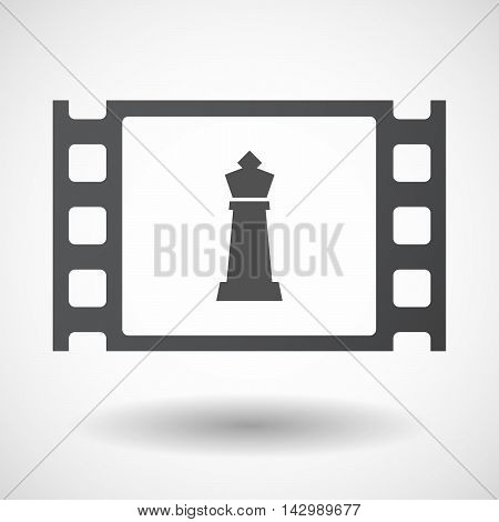 Isolated Celluloid Film Frame Icon With A  King   Chess Figure