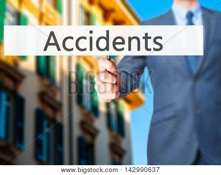 Accidents - Business Man Showing Sign