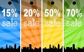 Sale abstract colors background poster