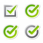 Check box vector icons vector set. Check vote icons vote mark sign choice yes symbol. Correct design check vote icons check mark right agreement voting form. Button question choose success graphic. poster