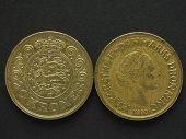 20 Danish Krone (DKK) coin currency of Denmark (DK) poster