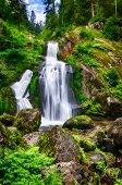 The highest waterfalls in Germany, Baden, Triberg poster