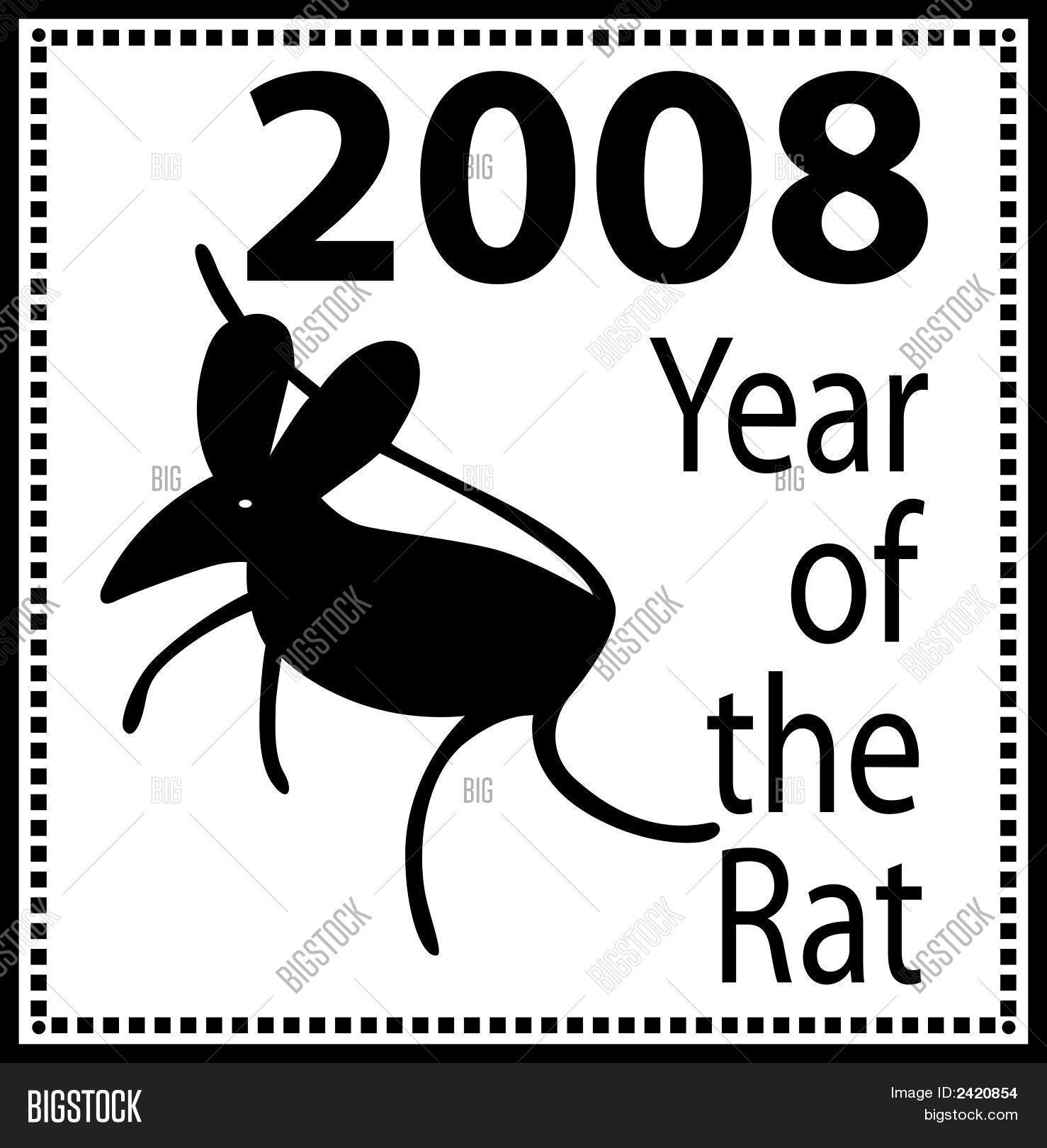 New Year 2008 Rat Eps Vector & Photo (Free Trial) | Bigstock