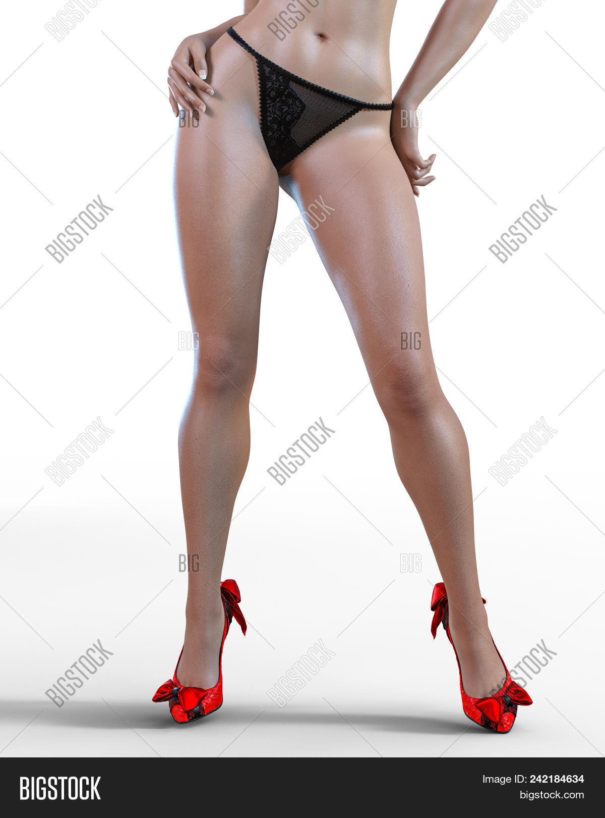 Beautiful Long Slender Sexy Female Legs Black Panties.beautiful Underwear  Collection.provocative Lib