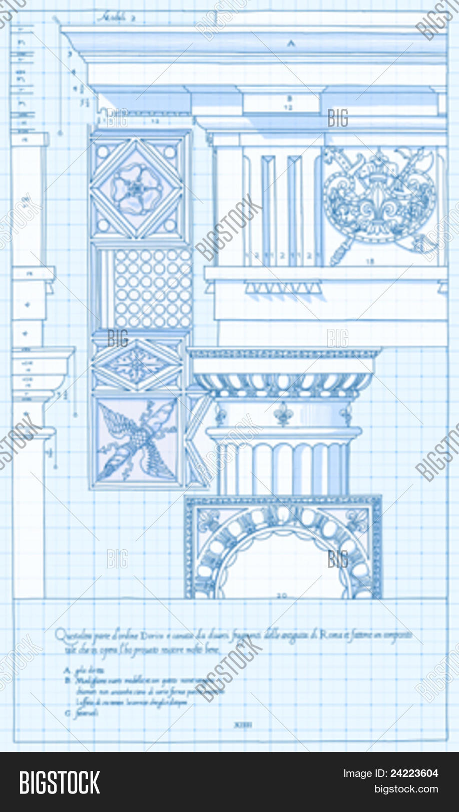 Blueprint hand draw vector photo free trial bigstock blueprint hand draw sketch doric architectural order based the five orders of architecture malvernweather Image collections