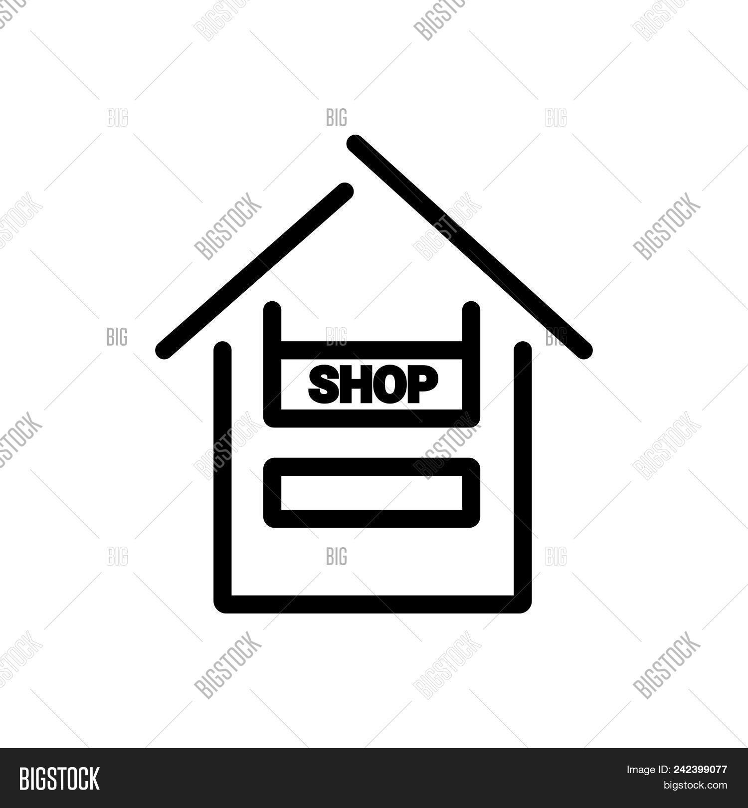 Shop Outlined Symbol Vector Photo Free Trial Bigstock