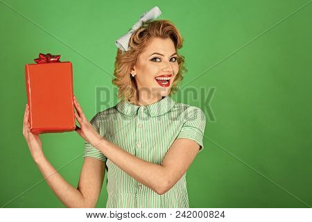 Female Face. Issues Affecting Girls. Presenting Product, Present Box. Presenting Product, Woman With