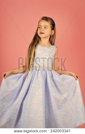 Face Fashion Little Girl Or Kid In Your Web Site. Little Girl Face Portrait In Your Advertisnent. Pr