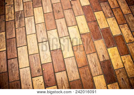 Background Texture Of A Brown Wooden Dining Table. Brown Background Texture