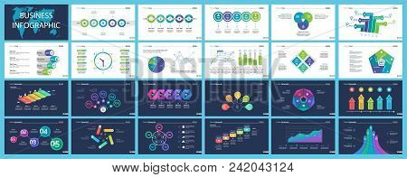 Business Inforgraphic Design Set For Strategy Concept. Can Be Used For Business Project, Annual Repo