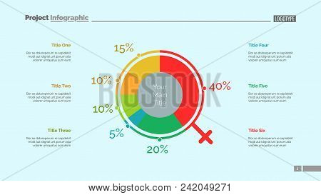 Demographics Chart Slide Template. Business Data. Graph, Diagram, Design. Creative Concept For Infog
