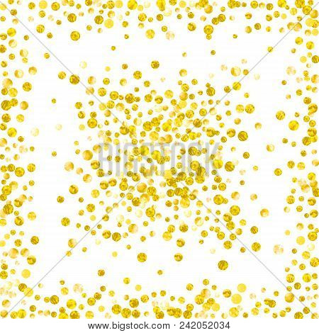 Wedding Glitter Confetti With Dots On Isolated Backdrop Falling Sequins Metallic Shimmer Desi