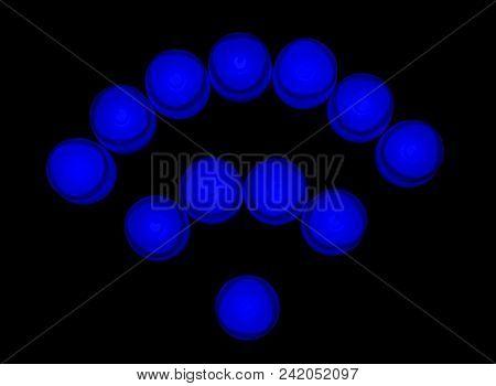 Blue lights wireless network icon