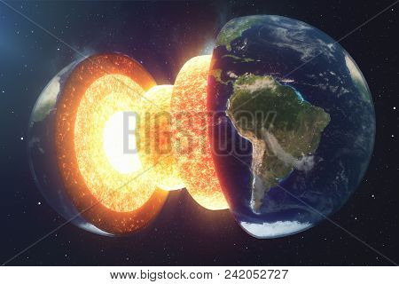 Structure Core Earth. Structure Layers Of The Earth. The Structure Of The Earth's Crust. Earth Cross