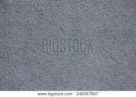 Rough Dark Surface Background Texture Of Old Building Wall. Dirty Stone Pattern Close Up View,  Unev